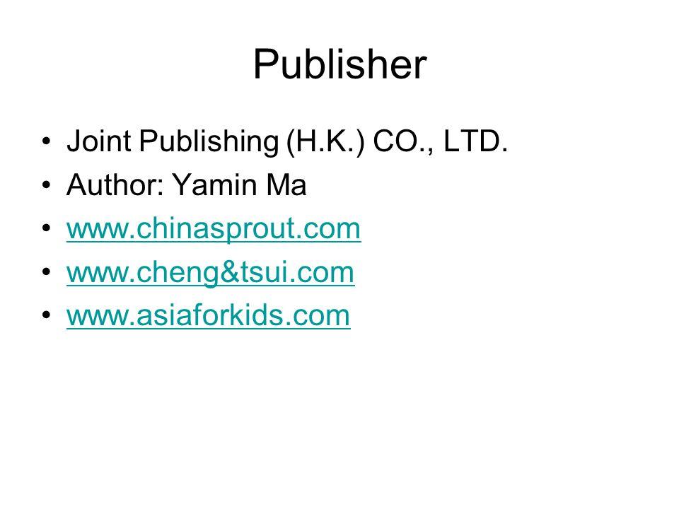Publisher Joint Publishing (H.K.) CO., LTD.