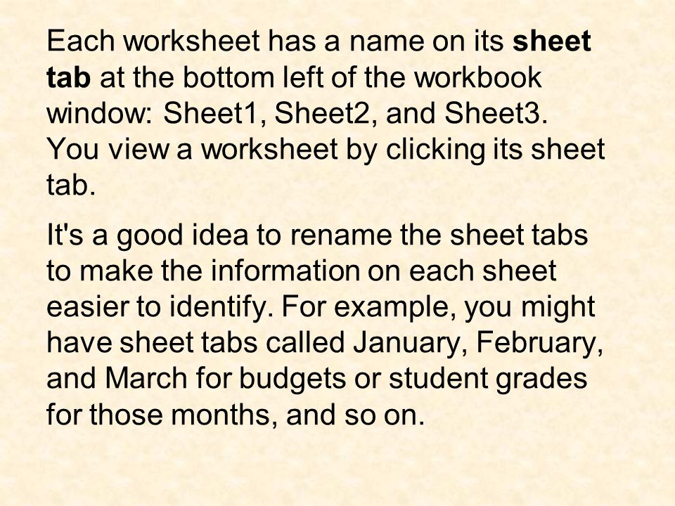 Tip If you d like more or fewer than three worksheets in each new workbook, you can change the number.