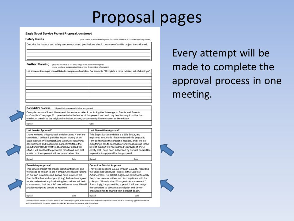 Every attempt will be made to complete the approval process in one meeting.
