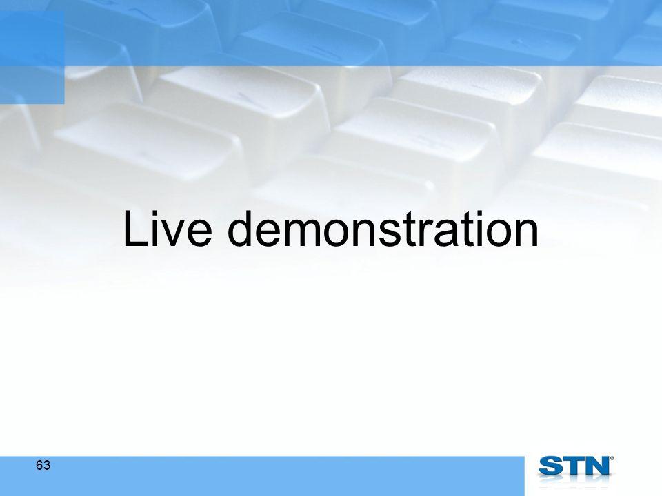 63 Live demonstration