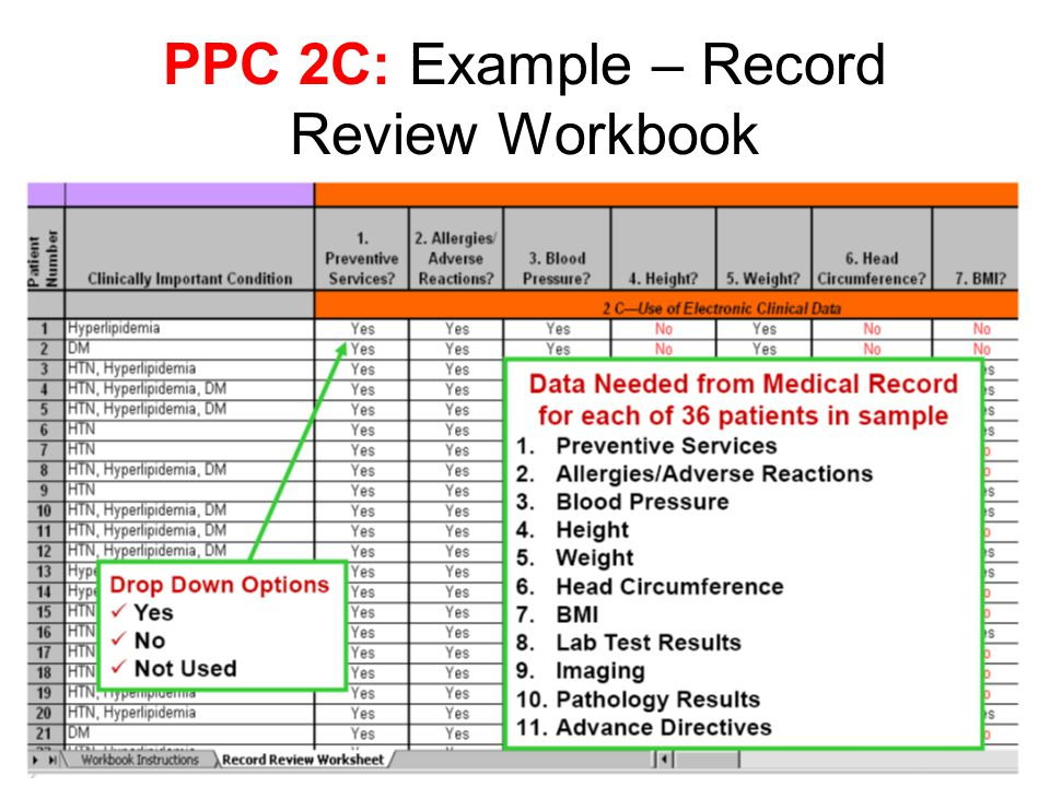 PPC 2C: Example – Record Review Workbook
