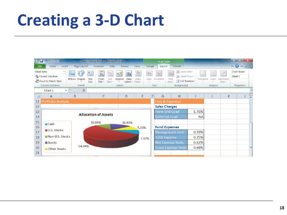 XP Creating a 3-D Chart 18