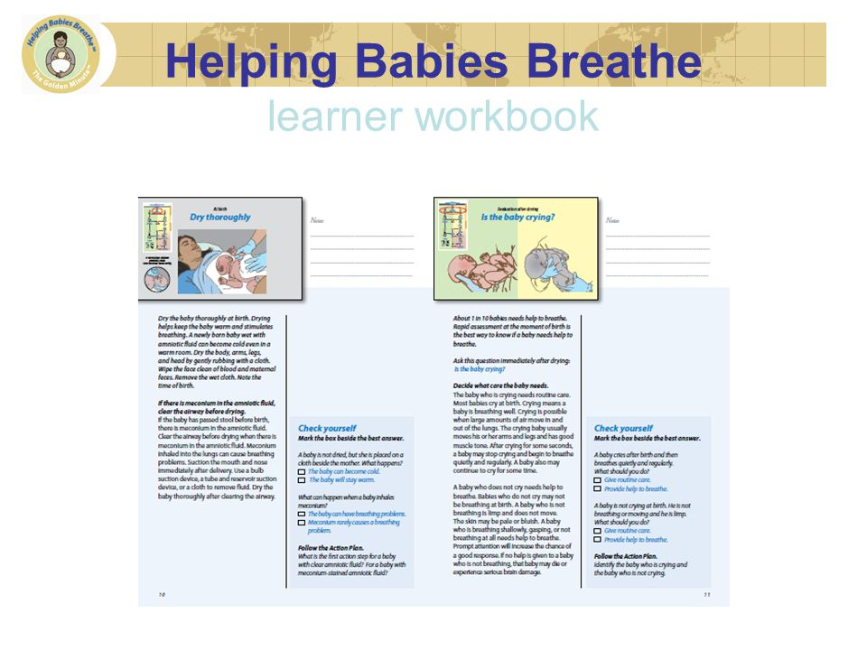 Helping Babies Breathe learner workbook