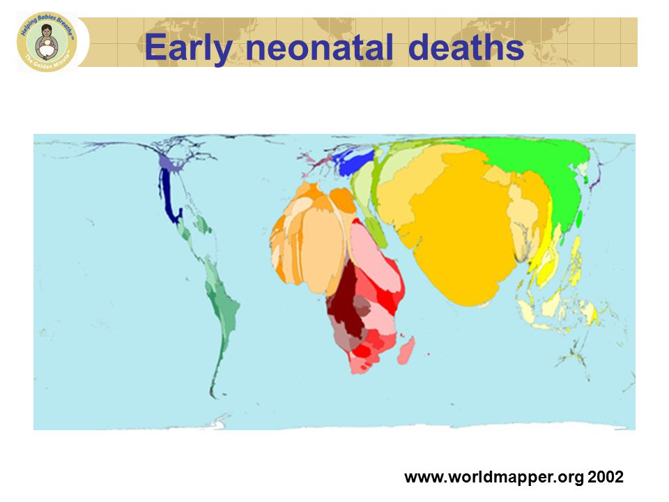 Early neonatal deaths www.worldmapper.org 2002