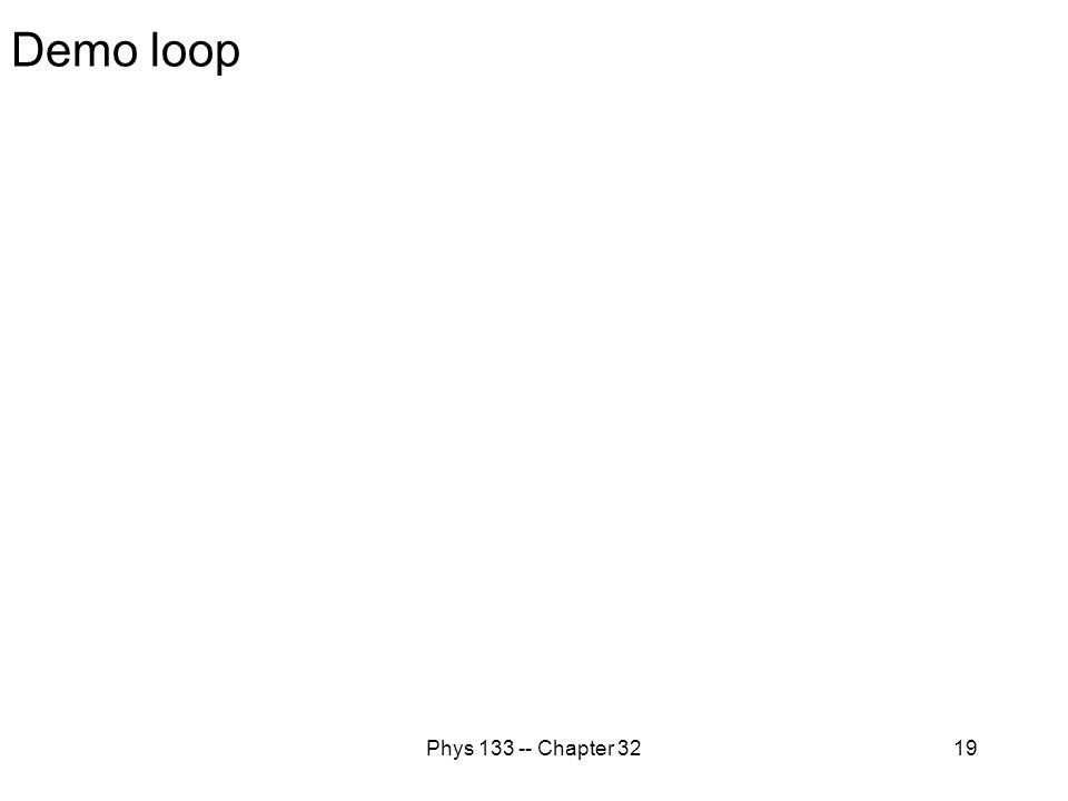 Phys 133 -- Chapter 3219 Demo loop