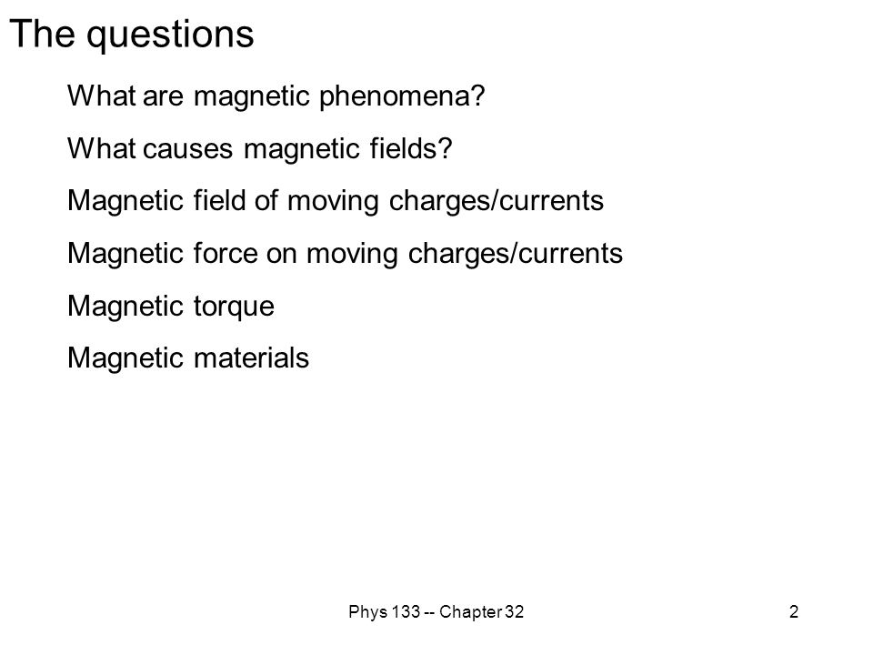 Phys 133 -- Chapter 3243 Magnetic material and induced dipole