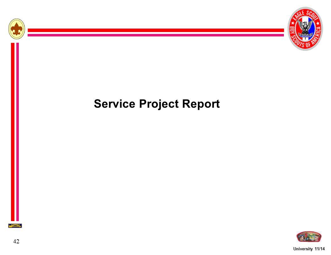 University 11/14 42 Service Project Report