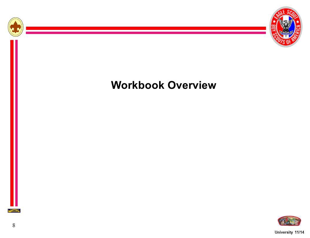 University 11/14 8 Workbook Overview