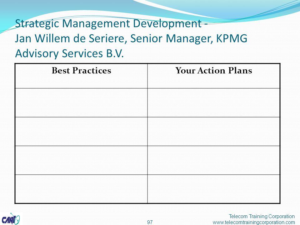 Strategic Management Development - Jan Willem de Seriere, Senior Manager, KPMG Advisory Services B.V.