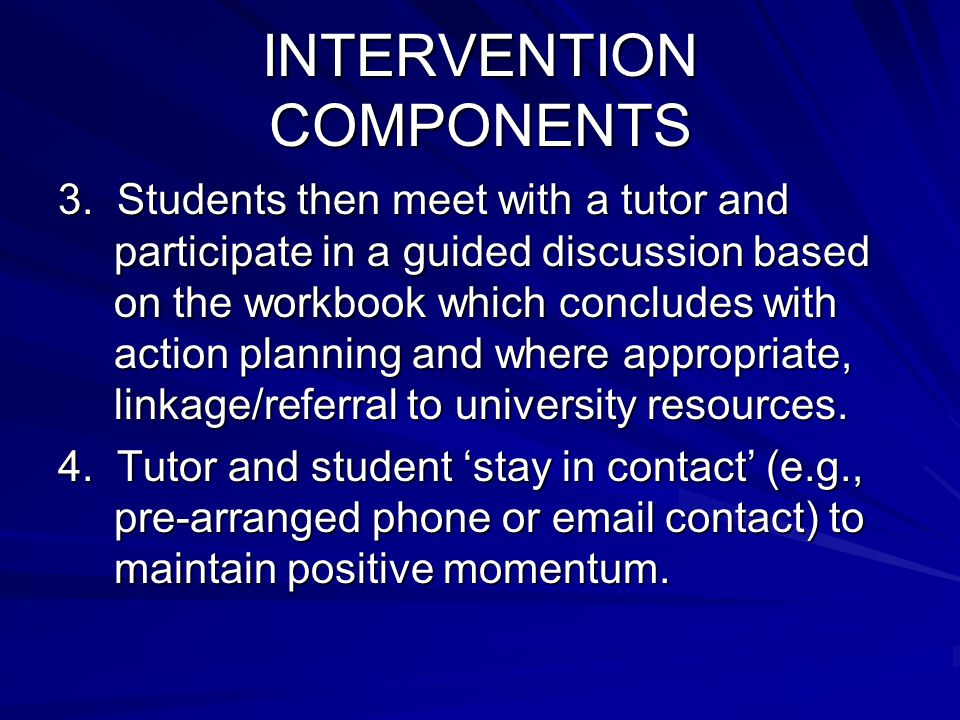 INTERVENTION COMPONENTS 3.
