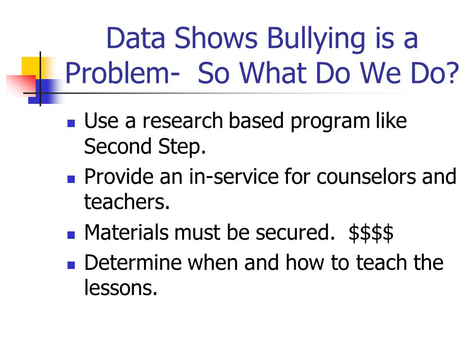 Data Shows Bullying is a Problem- So What Do We Do.