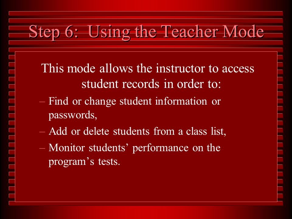 From the Activities Screen, various practice, testing activities, and games can be selected.