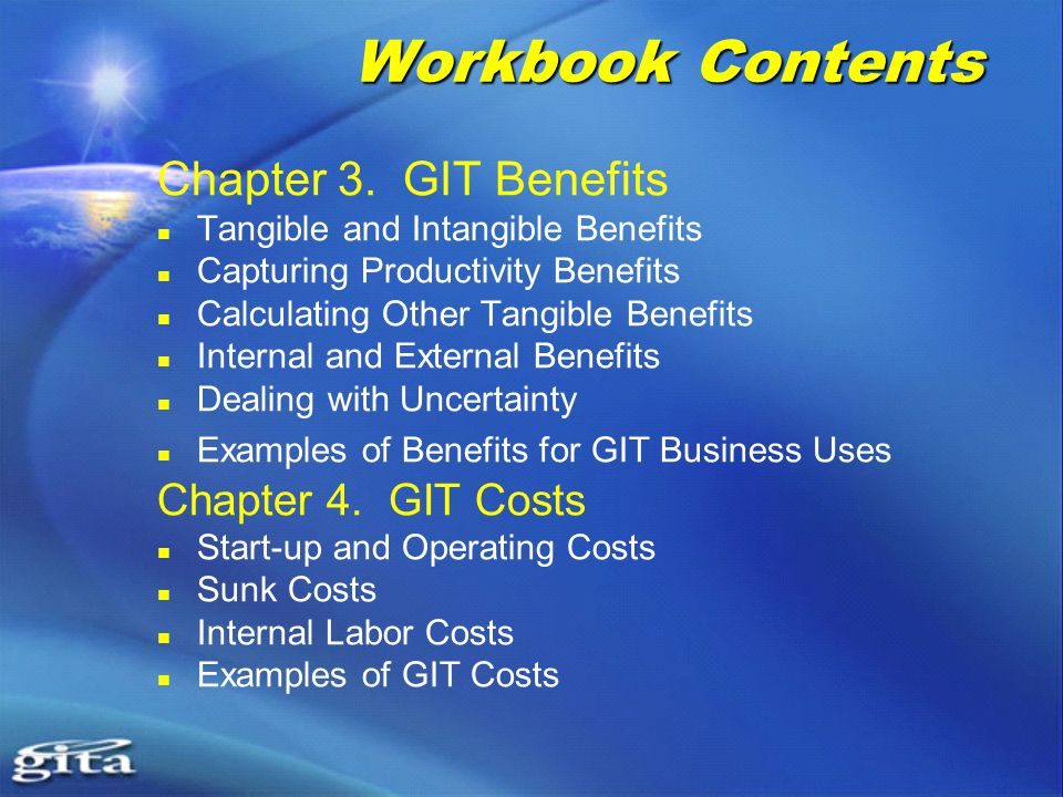 Workbook Contents Chapter 3.