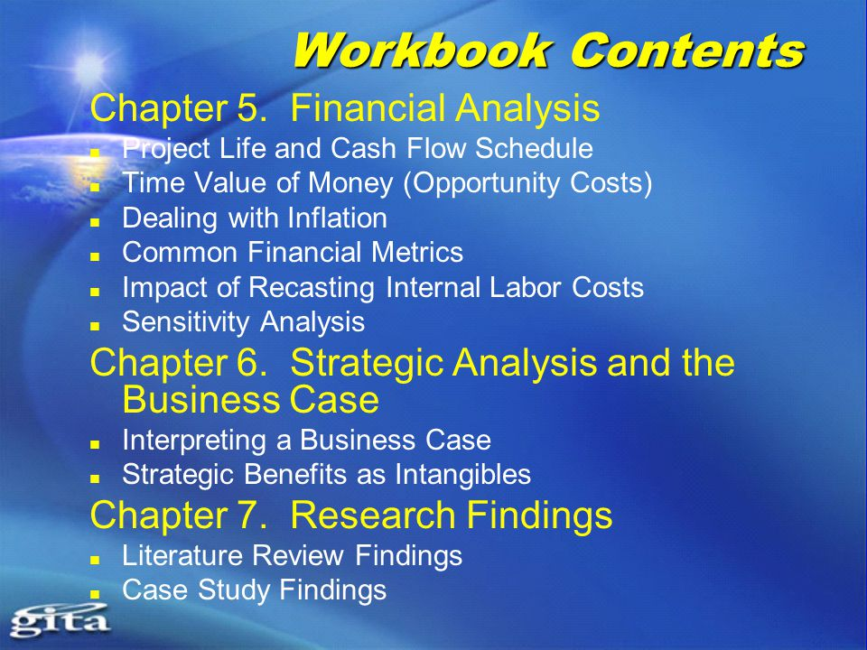 Workbook Contents Chapter 5.