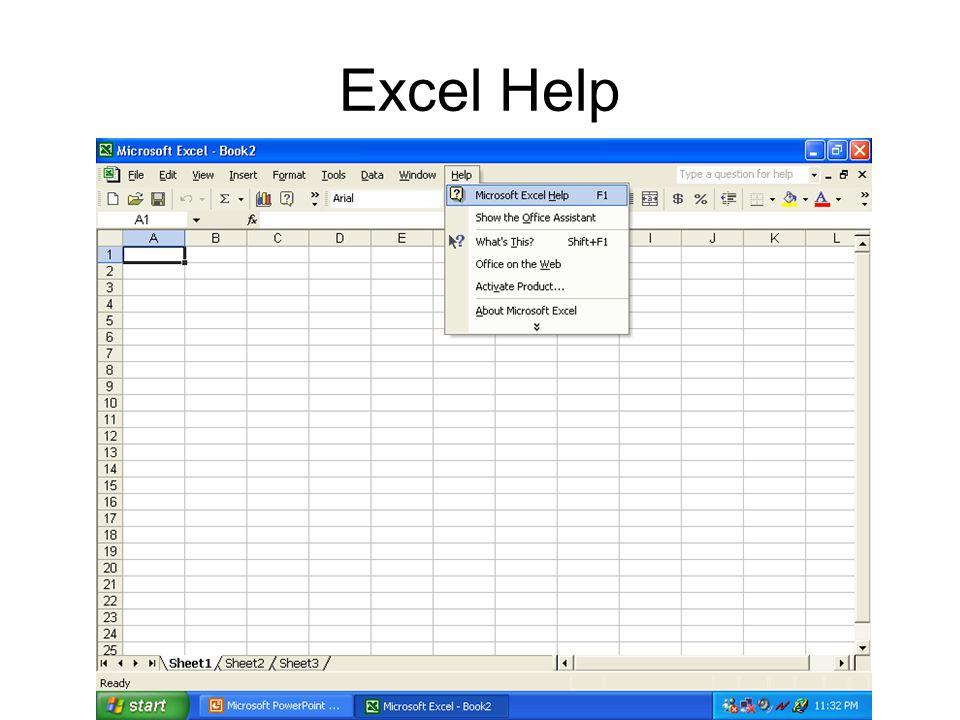 Excel Help