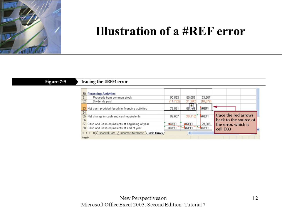 XP New Perspectives on Microsoft Office Excel 2003, Second Edition- Tutorial 7 12 Illustration of a #REF error
