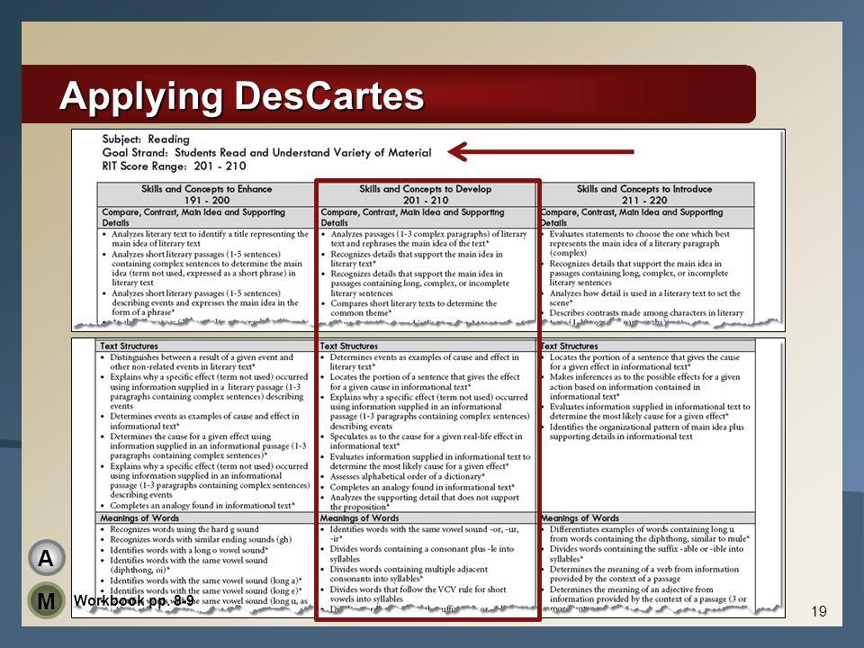 Applying DesCartes 19 Workbook pp. 8-9 A M