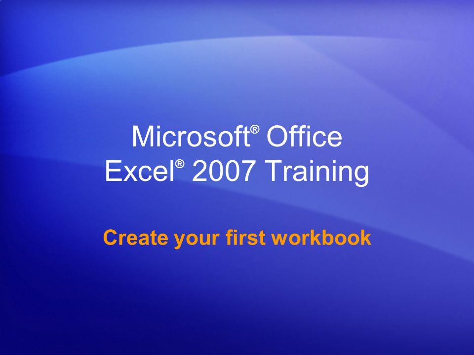 Create your first workbook Remove data formatting Surprise.