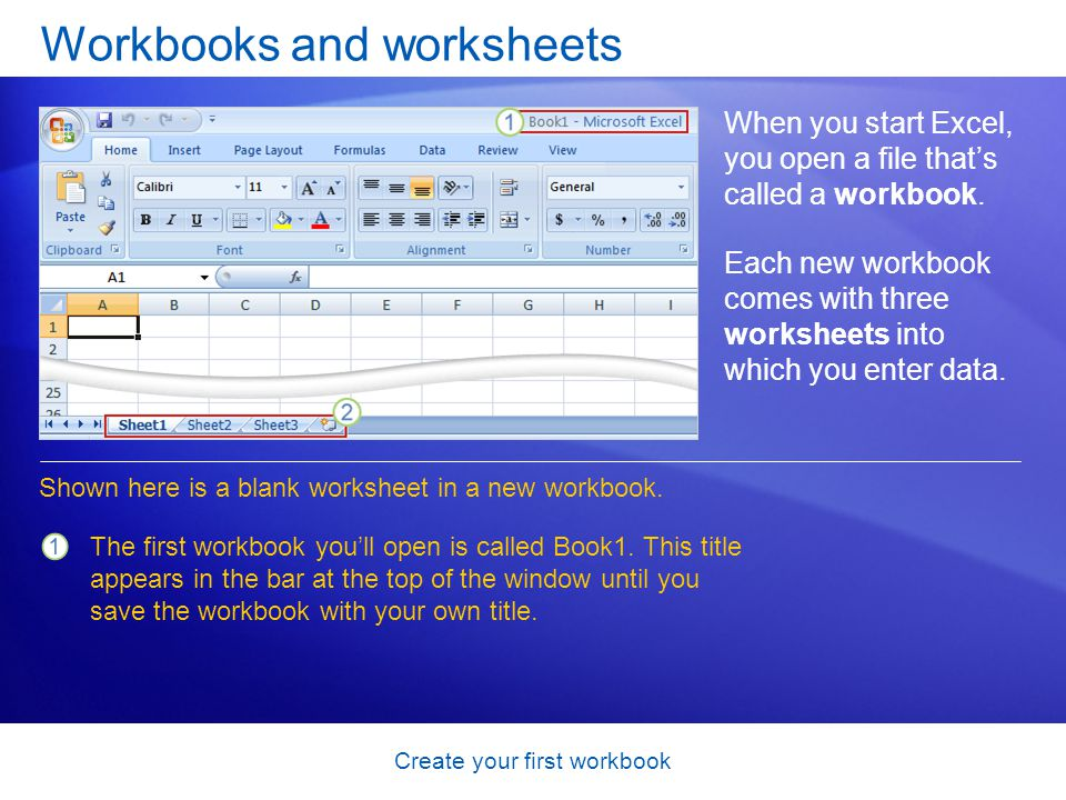Create your first workbook Test 2, question 1 Pressing ENTER moves the selection one cell to the right.