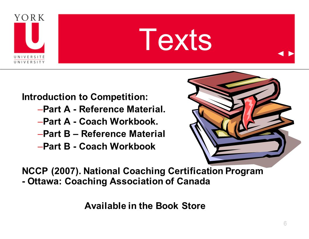 6 Texts Introduction to Competition: –Part A - Reference Material.