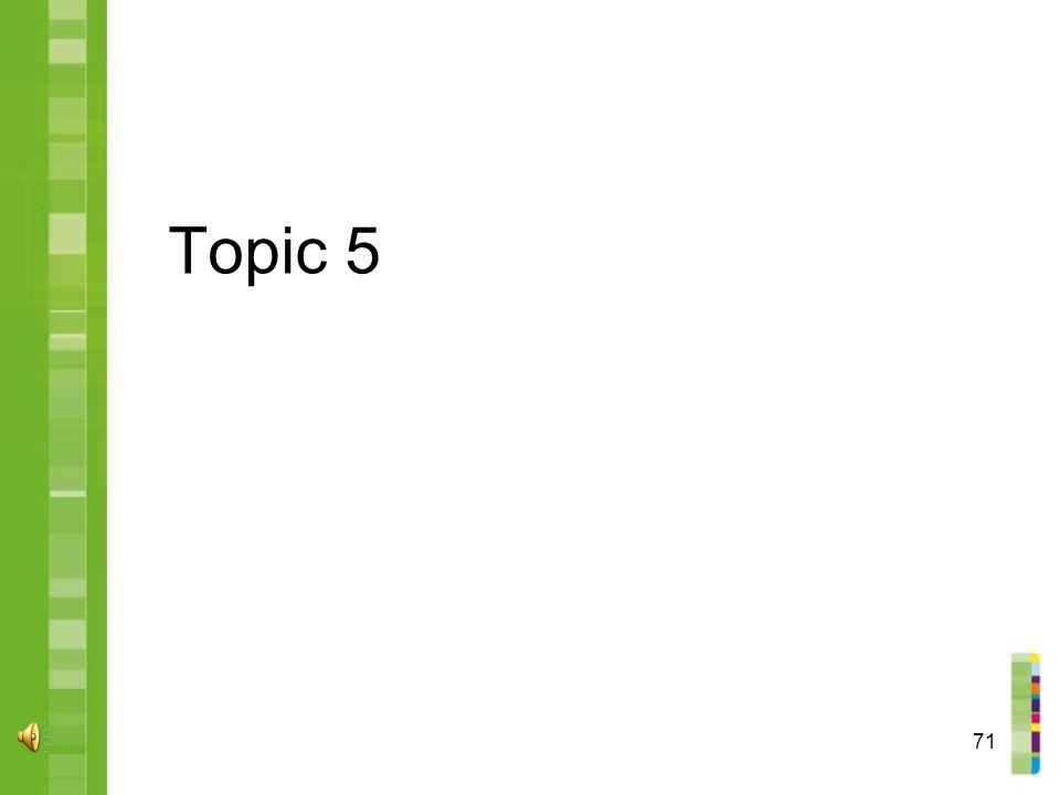 71 Topic 5