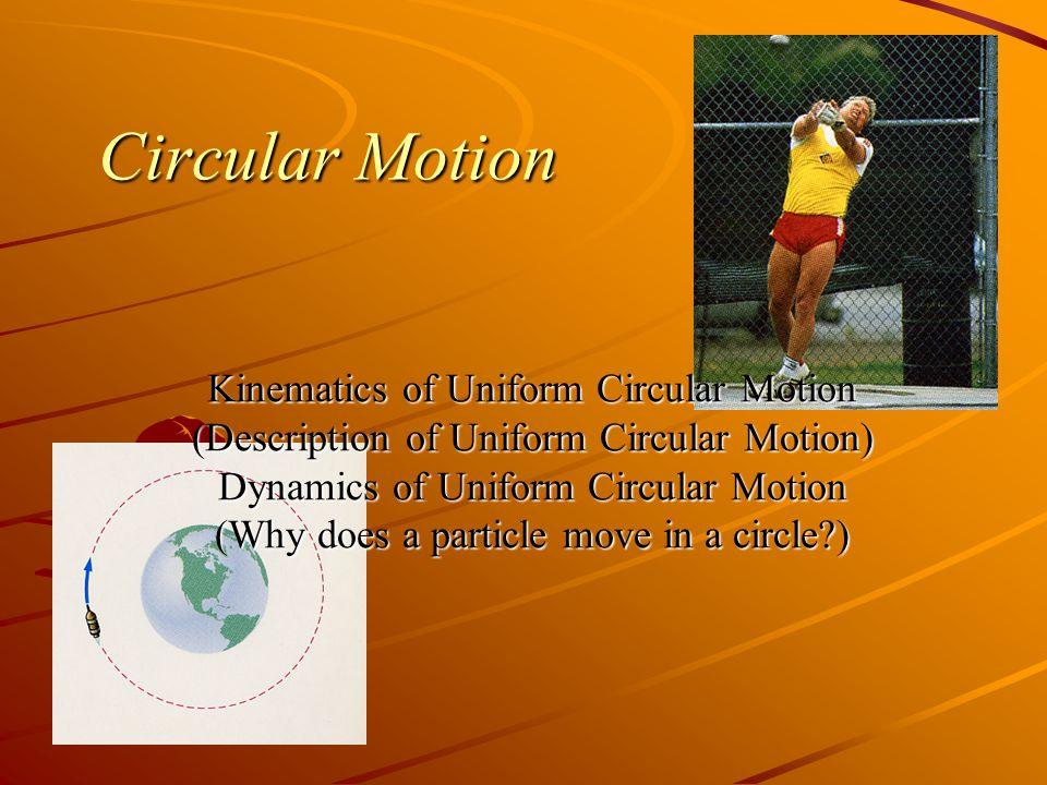 Circular Motion Radians For a full circle.