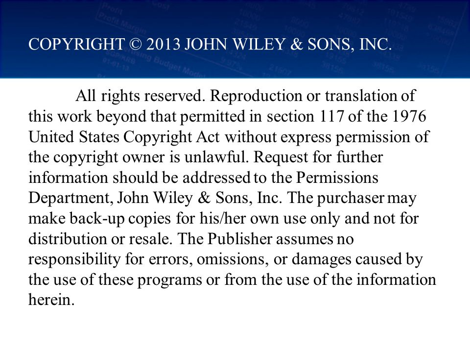 COPYRIGHT © 2013 JOHN WILEY & SONS, INC.All rights reserved.