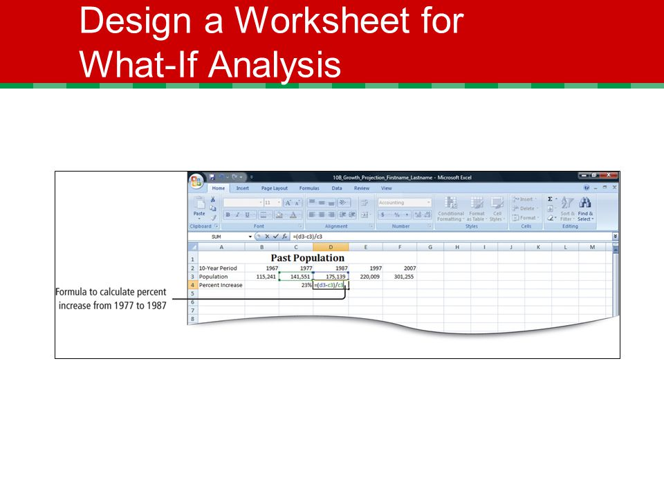 Design a Worksheet for What-If Analysis