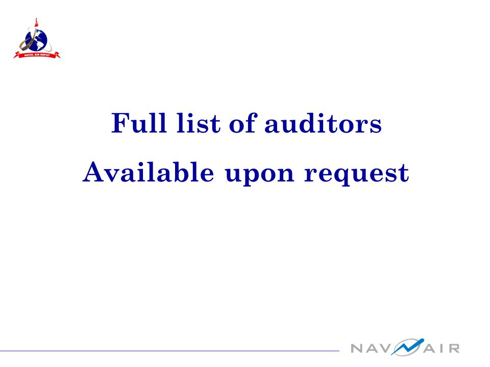 Full list of auditors Available upon request