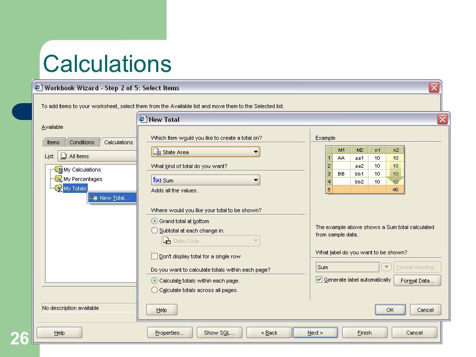 26 Calculations