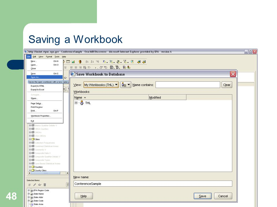 48 Saving a Workbook