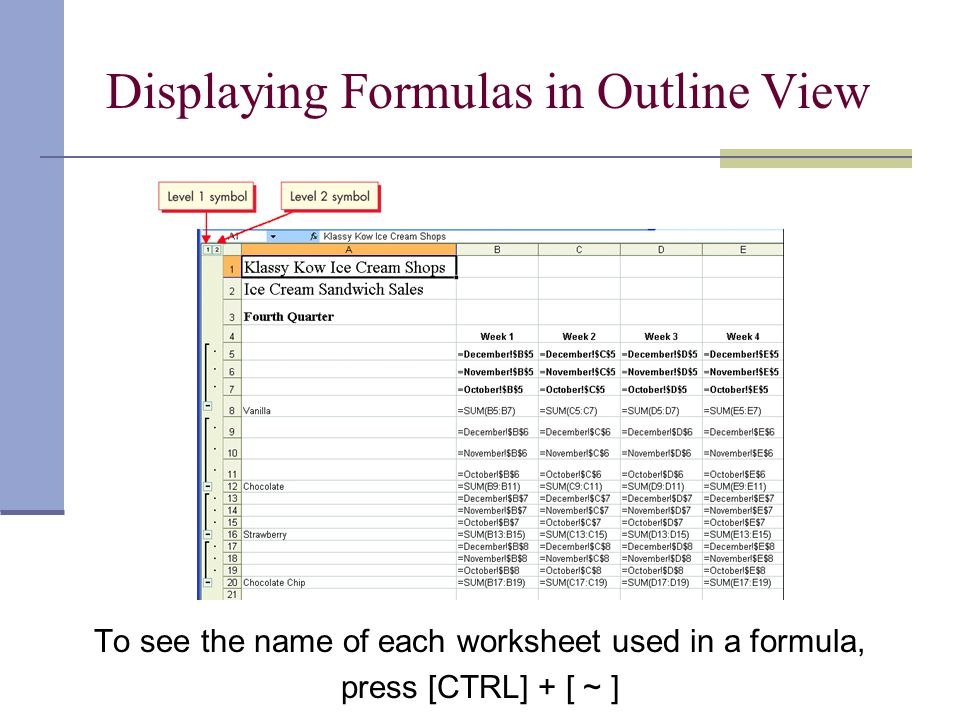 Linking Workbooks Linking combines data from several workbooks into a summary workbook.