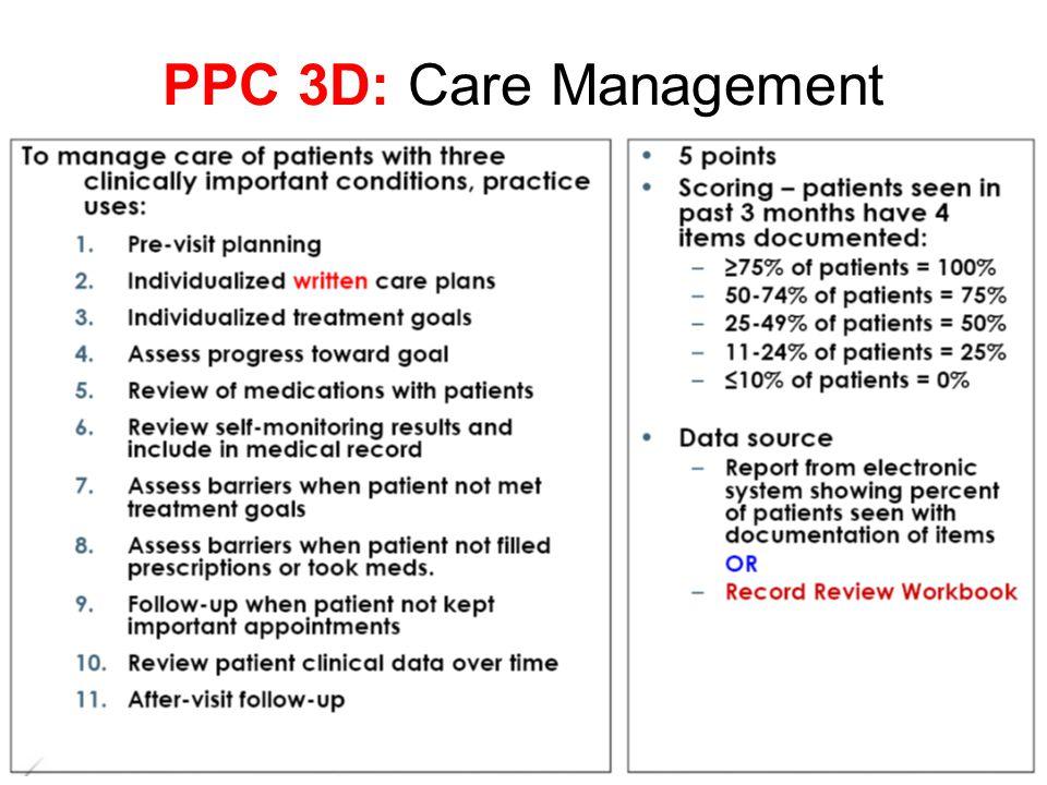 PPC 3D: Care Management