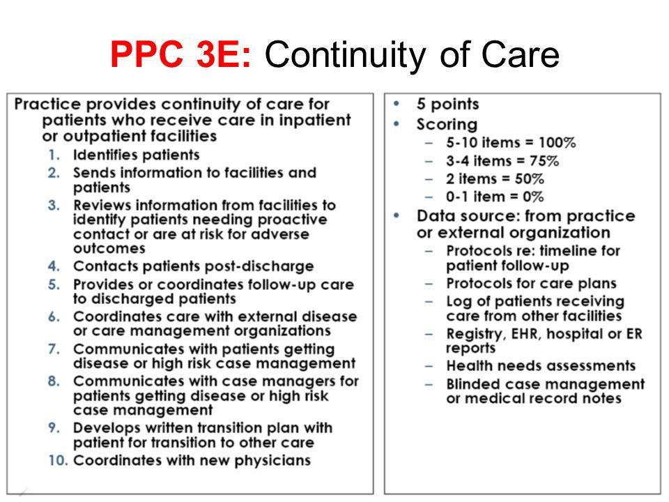 PPC 3E: Continuity of Care