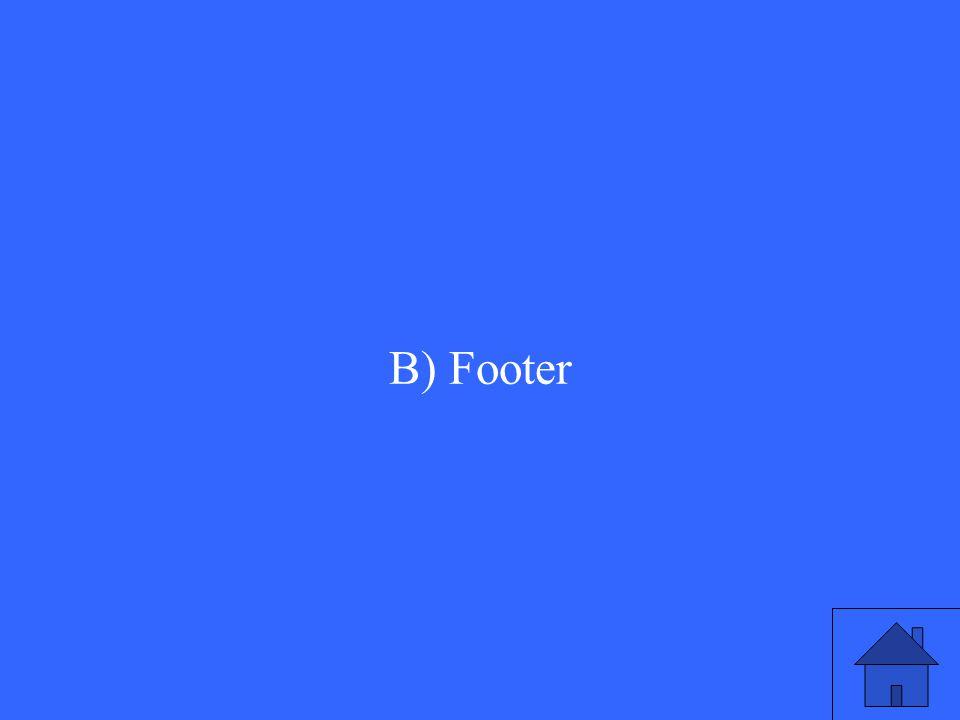 B) Footer