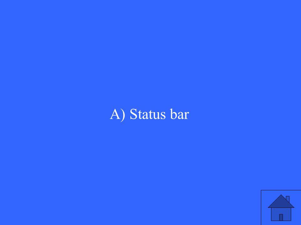 A) Status bar