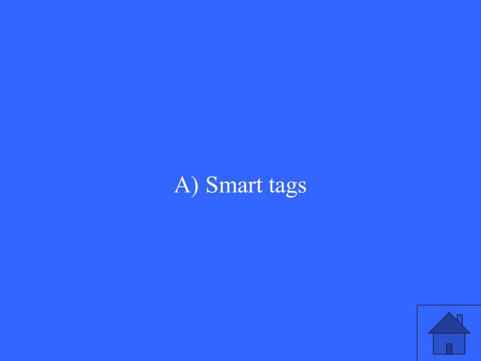 A) Smart tags