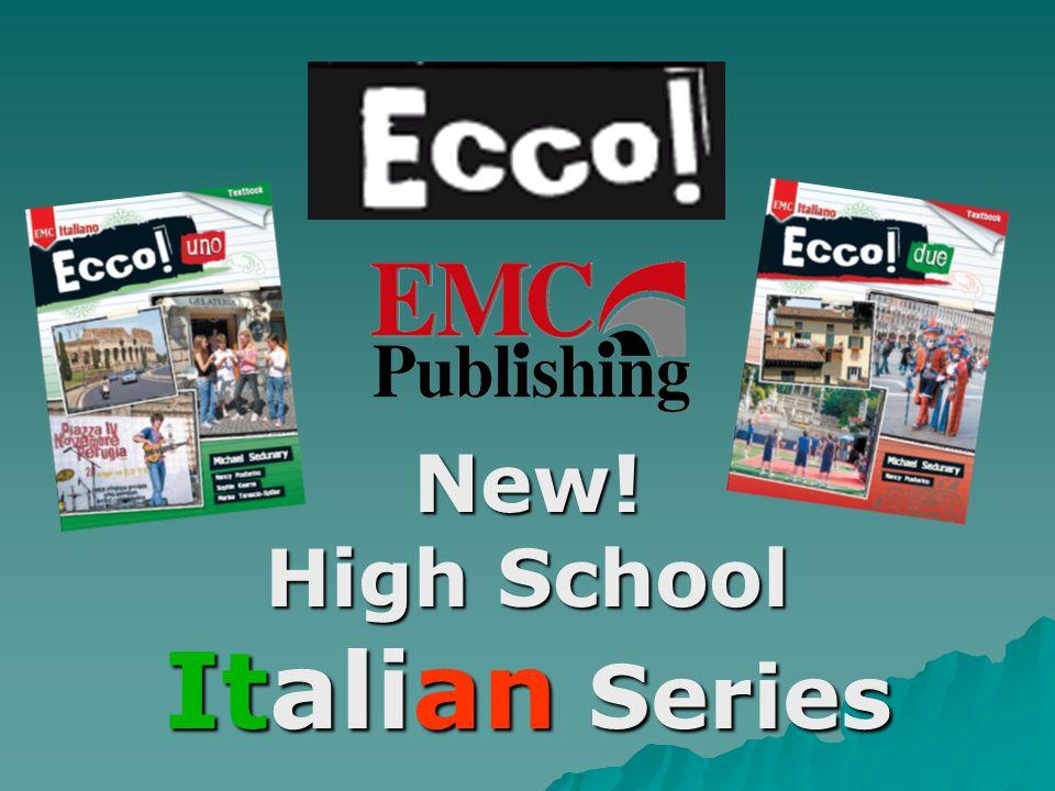 New! High School Italian Series