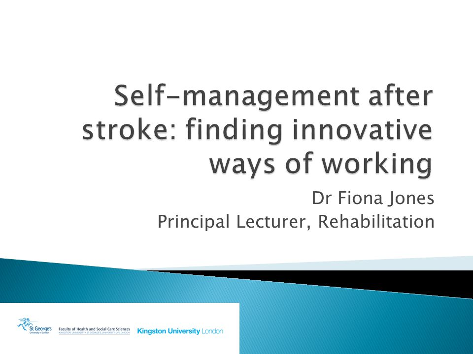 Dr Fiona Jones Principal Lecturer, Rehabilitation