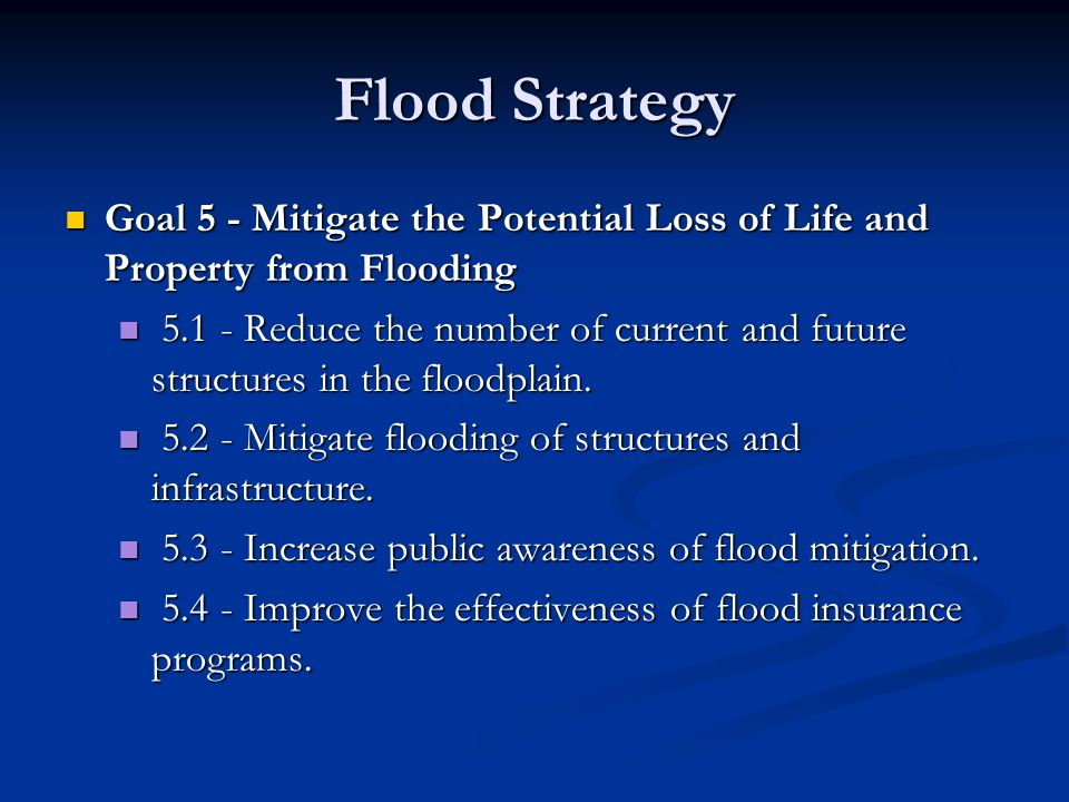 Project 5.1.1 Encourage jurisdictions to pursue mitigation projects for repetitive loss structures or any severe repetitive loss properties identified in the future.