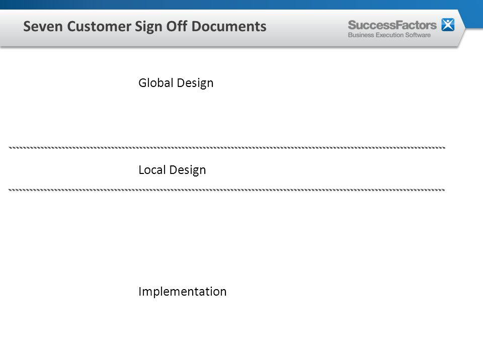 Global Design Local Design Implementation Seven Customer Sign Off Documents