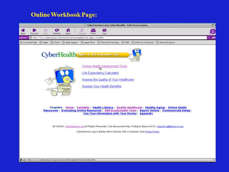 Online Workbook Page: