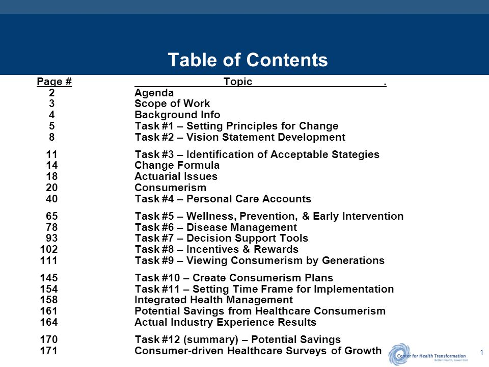 32 Evolution of Healthcare Consumerism FocusImpactChoices First Generation High Deductible Plans with HRAs or HSAs, Decision Support Tools Discretionary Expenses: Rx, ER, OV, D-X-L Initial Level and Type of Accounts with CDHC / HDHP Designs, Information and Decision Support Services Second Generation Behavior Change Through Rewards Chronic and Persistent Conditions, Pre-natal, Preventive Care Covered Benefits, Type and Level of Matching Funds and P4C / P4P Incentives for Prevention, Wellness, and Disease Management Programs Third Generation Health and Performance Organizational Health, Turnover, Absenteeism, Productivity, Disability, and Presenteeism Group rewards, Importance and Impact on non-health Corporate metrics Fourth Generation Personalized Health and Lifestyle Needs Personalized Health and Performance Outcomes, Genetic Predispositions Lifecycle Needs, Culturally Sensitive DM, Holistic Care, Information Therapy
