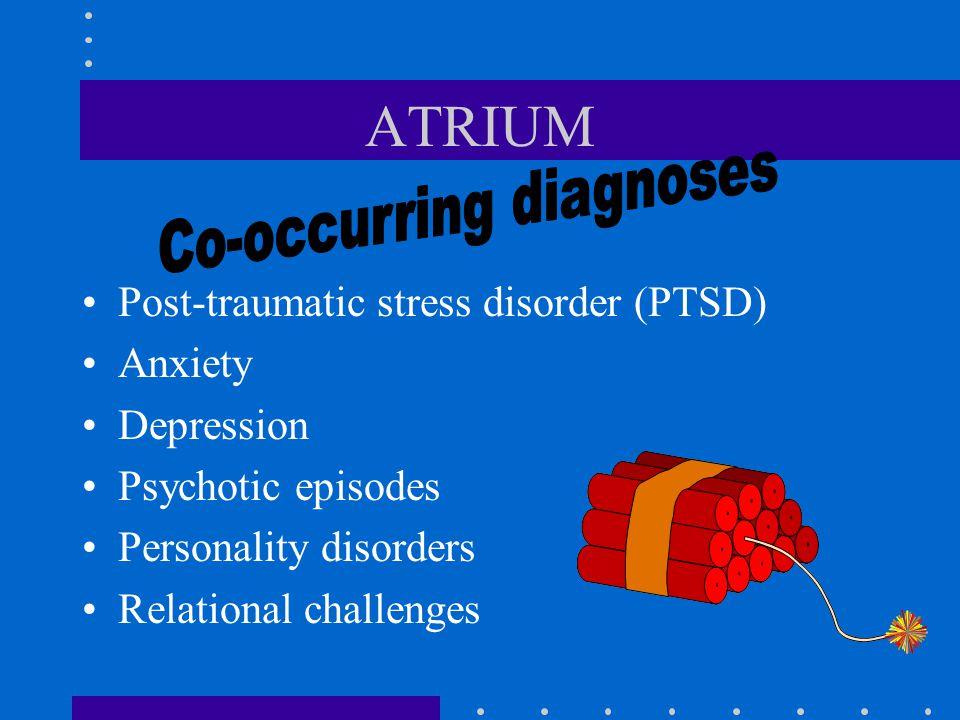 ATRIUM The legacy of trauma creates Broken hearts & wounded spirits
