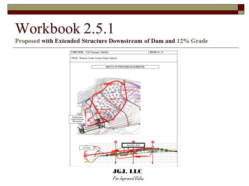 Workbook 2.5.1 Proposed with Extended Structure Downstream of Dam and 12% Grade