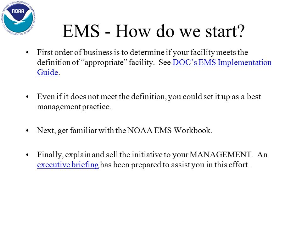 EMS - What does it cover.