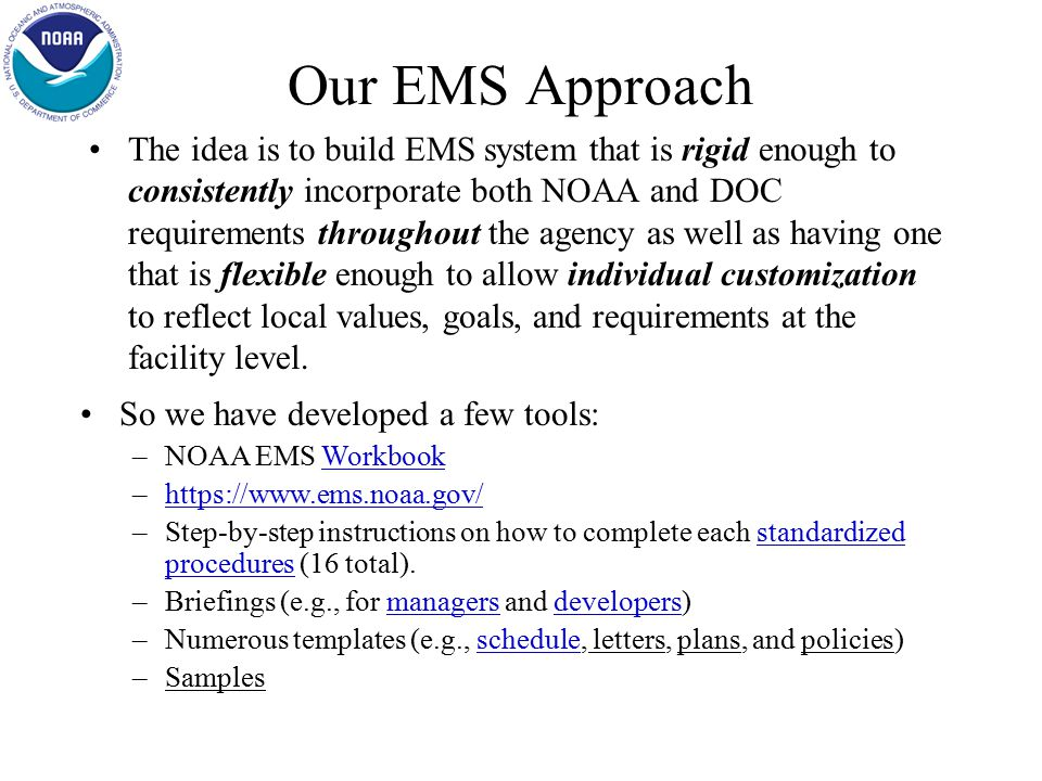 EMS - How do we start.