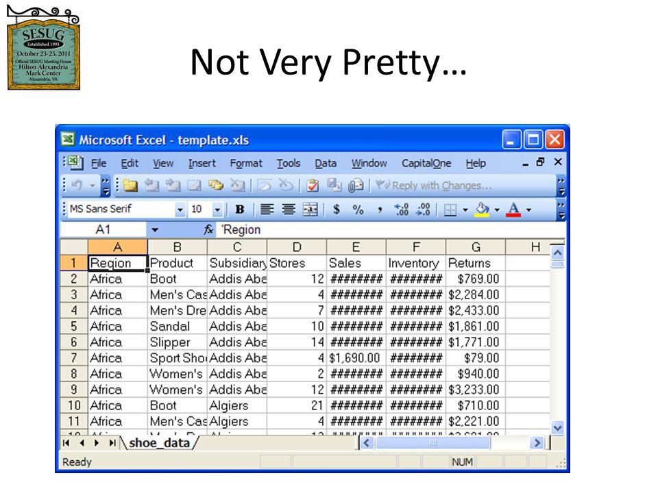 5/1/2015 5 Format and Build The Workbook Adjust column widths AutoFilter Freeze Panes Hide columns Color columns