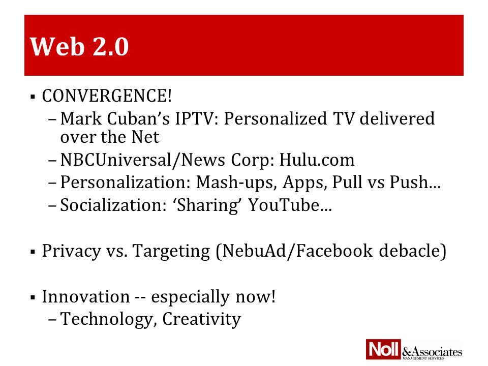 Web 2.0  CONVERGENCE.