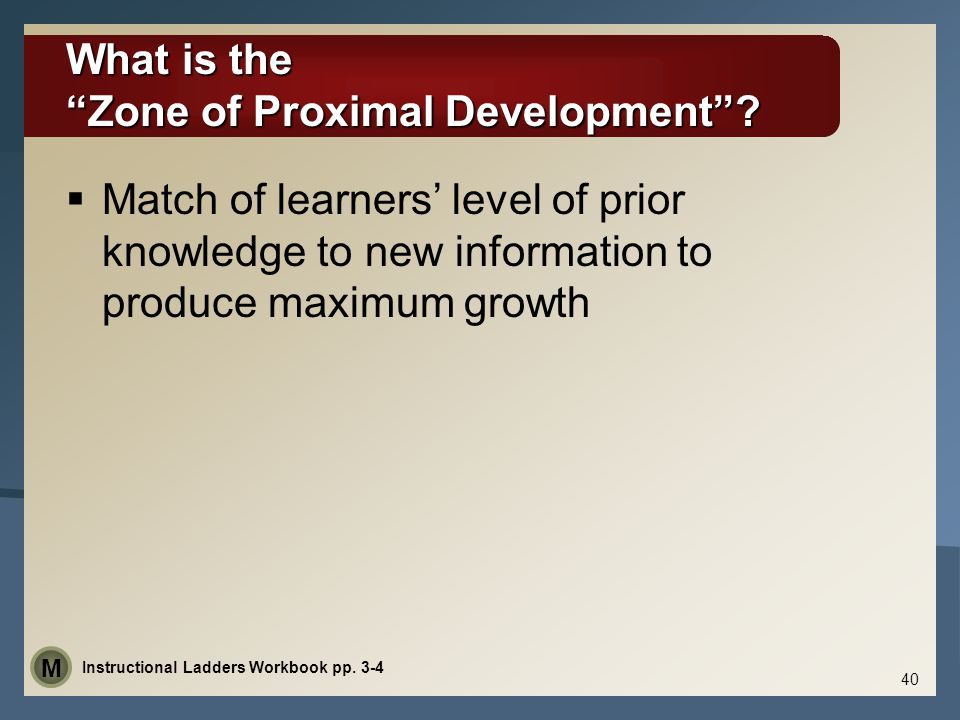 What is the Zone of Proximal Development .